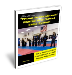 Mike Massie's martial arts school sales system